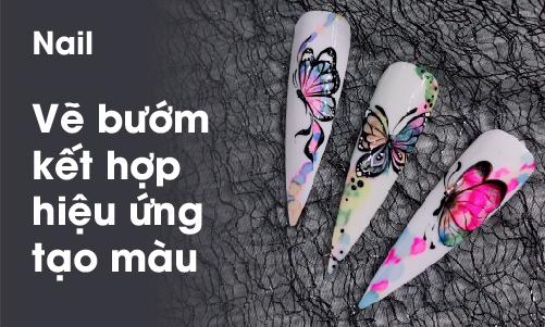Khoá học vẽ bướm kết hợp hiệu ứng tạo màu